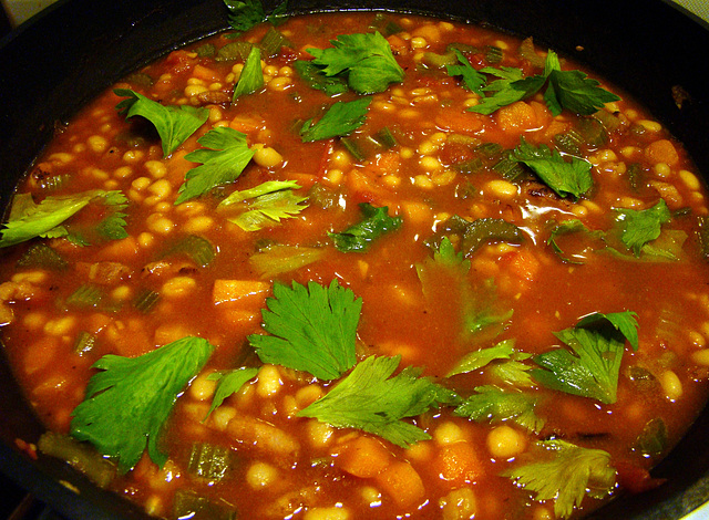 Italiaanse bonensoep (ribollita)