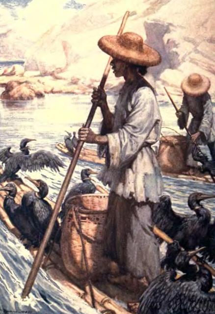 La Pêche aux Cormorans, œuvre de Frank Finn