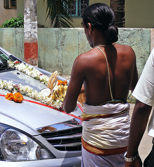 Puja for a new car