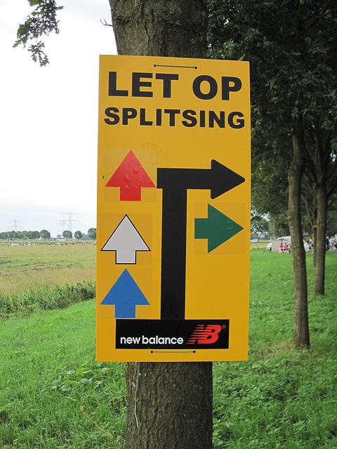 Waarschuwing voor de splitsing