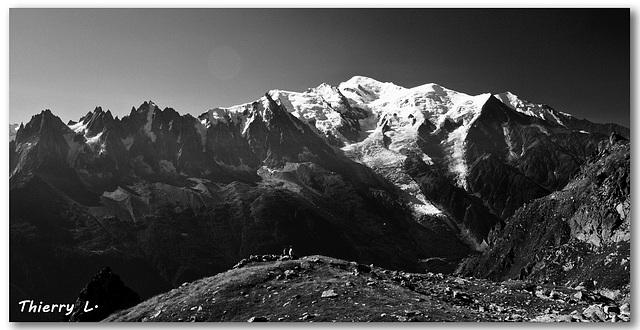 Vue sur le Mont Blanc et les Aiguilles de Chamonix