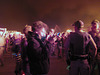 Crowd and Police Watching The Burn (0533)