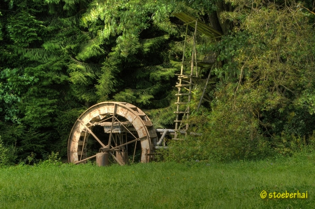 Water wheel near Schlettach