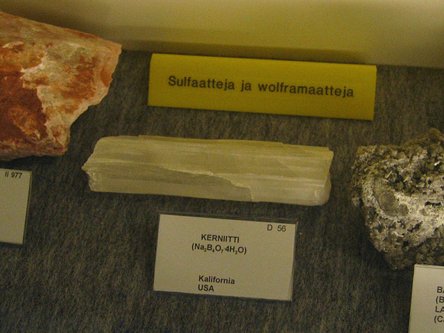 Sulfates and wolframite