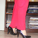 Mon Amie Krisontème / My beloved friend Krisontème - La Bibliotécaire sexy en talons hauts / The sexy librarian in high heels  - La Bibliotécaire sexy en talons hauts. Photo originale