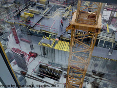 Construction of the New Narodni Trida Metro Station, Picture 2, Prague, CZ, 2013