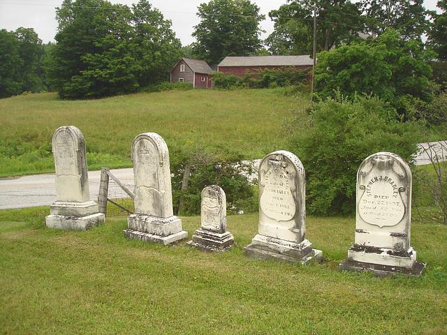Lake Bomoseen private cemetery. Sur la 4 au tournant de la 30. Vermont, USA - États-Unis.