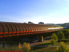 Tubular Bridge at Hurka, Prague, CZ, 2009