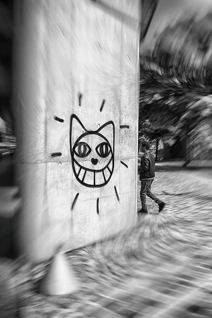 A Cat with a Grin for Chris Marker, Porte de la Villette, Paris, 24 April 2014
