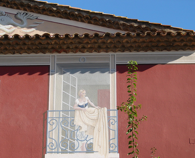 peinture murale à Port Grimaud