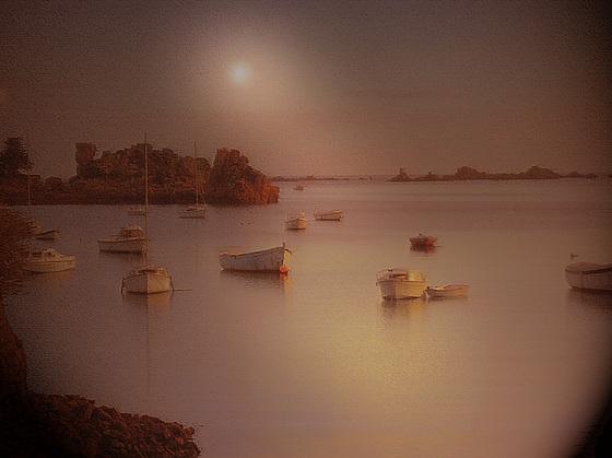 coucher de bateaux bretons