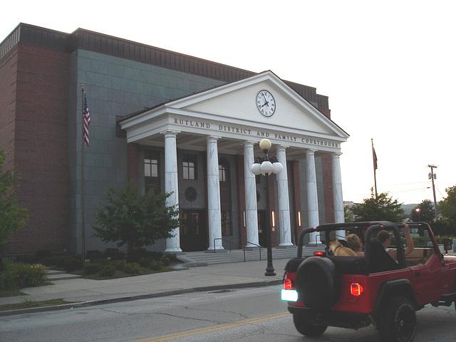Rutland, Vermont USA  - 25 juillet 2009 -  Family courthouse - Palais de justice pour la famille