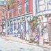 Awear building  /  Architecture Awearienne - Portland, Maine -  USA / États-Unis - 11 octobre 2009 - Contours de couleur