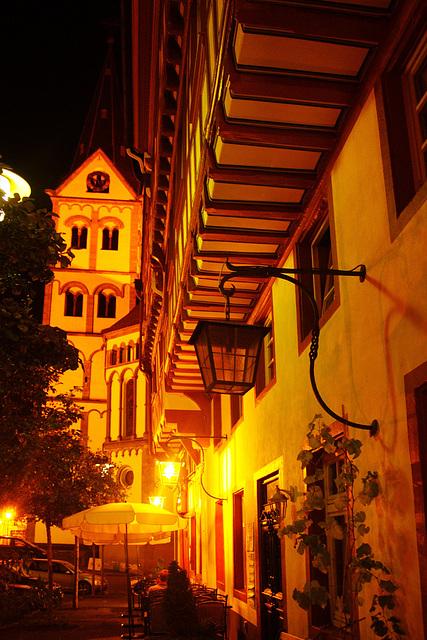 abends auf dem Marktplatz in Boppard