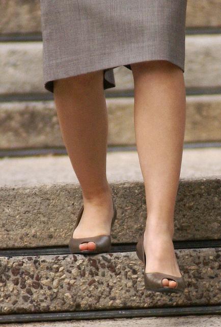 street shot: bandolino peep toe heels