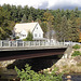Pont et rivière /  Bridge and river  - Bartlett,  New Hampshire ( NH ) USA  - 10-10-2009