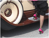 Luna photographe /Rallye de voitures antiques et talons hauts  / Ancient cars rallye and high heels