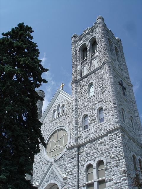 St-Mary's Assumption church / Middleburg. Vermont -  USA  /  25 juillet 2009