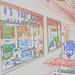 US post office /  Glen New Hampshire NH . USA - 10-10-2009 - Contours de couleurs