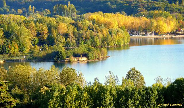 Dimanche d'automne à Cergy, Base de loisirs