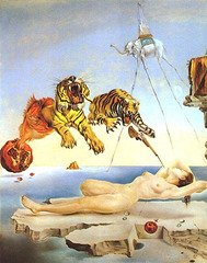 Salvador Dalí - Dream Caused by the Flight of a Bee around a Pomegranate a Second Before Awakening