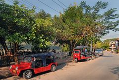 Beside the river bank of Mekong