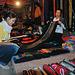 Daughter Sylvia buys a textile blanket