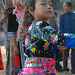 Hmong girl in her action