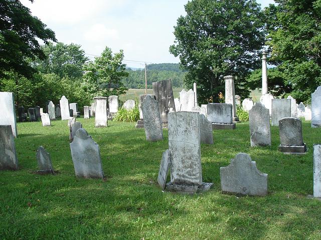 Whiting church cemetery / 30 nord entre les routes 4 et 125 -  États-Unis /  USA.  25 juillet 2009