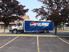 Pepsi western truck / Camion Pepsi à la mode western.