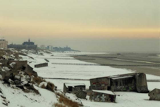 la neige sur la plage