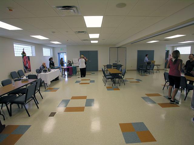 Henry Vellore Lozano, USMCR, Community Center interior (8775)