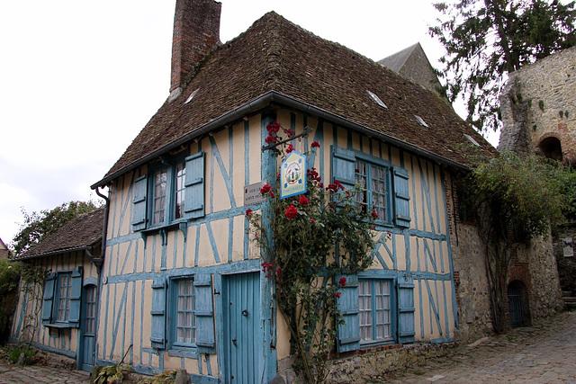 La maison bleue à Gerberoy