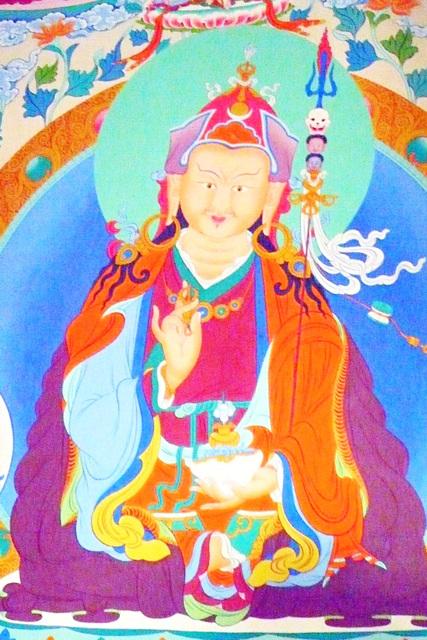 Peinture de temple bouddhiste
