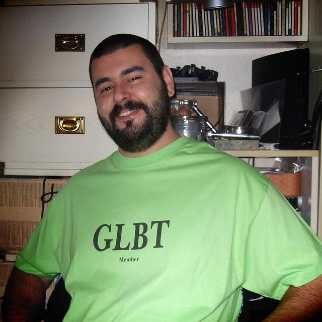 Franco, proud GLBT member.