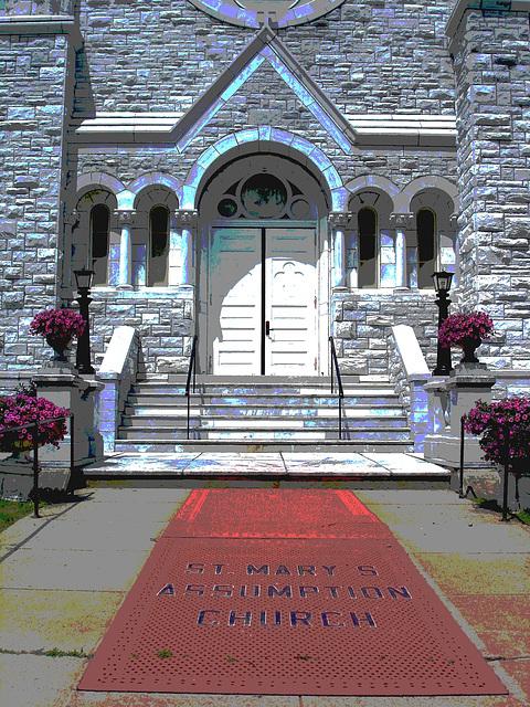 St-Mary's Assumption church. Middleburg. Vermont - USA /  25 juillet 2009 -  Postérisation