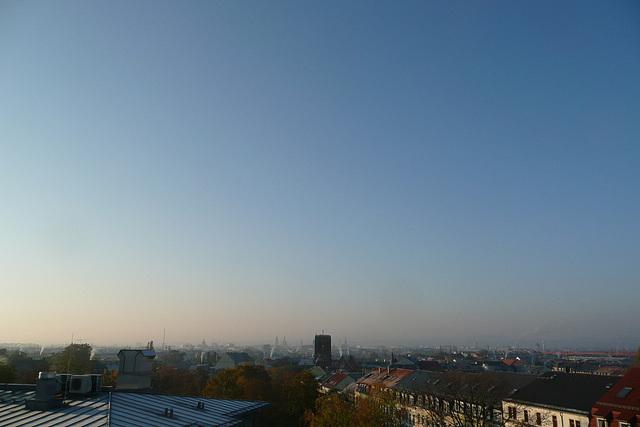Herbstmorgen über Dresden