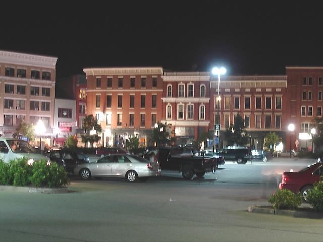 Rutland , Vermont. USA - États-Unis.  25 juillet 2009 -  Stationnement flou - Blurry parking
