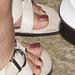 MILF toes in claiborne slides