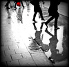 Photo de mon Amie Simona avec / with permission -  Shopping in high heels - Faire ses courses en talons hauts.