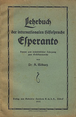 Möbusz, Dr. A.: Lehrbuch der internationalen Hilfssprache Esperanto.