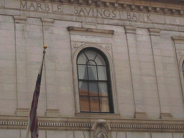 Rutland. Vermont USA - 25-07-2009 -  Marble savings bank