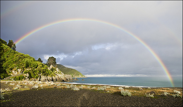 Rainbow at Rarangi.
