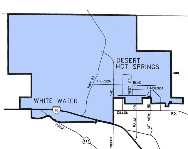 Mission Springs Water District boundary map