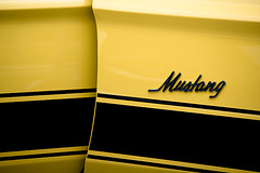 1973 Ford Mustang MACH 1 351 Ram Air - side mustang emblem