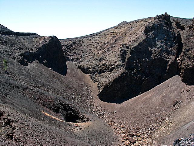 Vulkankrater Hoyo Negro - Ausbruch 1949