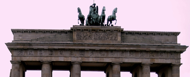 Brandenburg Gate, the only old remaining gate for entering in only one Berlin