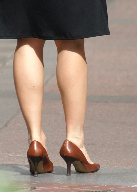 street shot: legs and heels