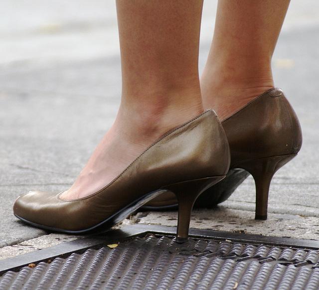 street shot: bandolino peep toes