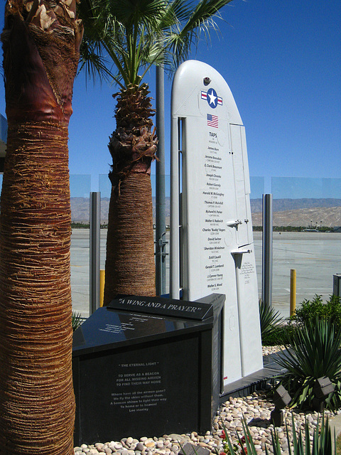 Palm Springs Airport Memorial For Missing Flyers (3574)